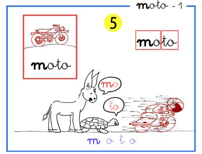 letra m de moto