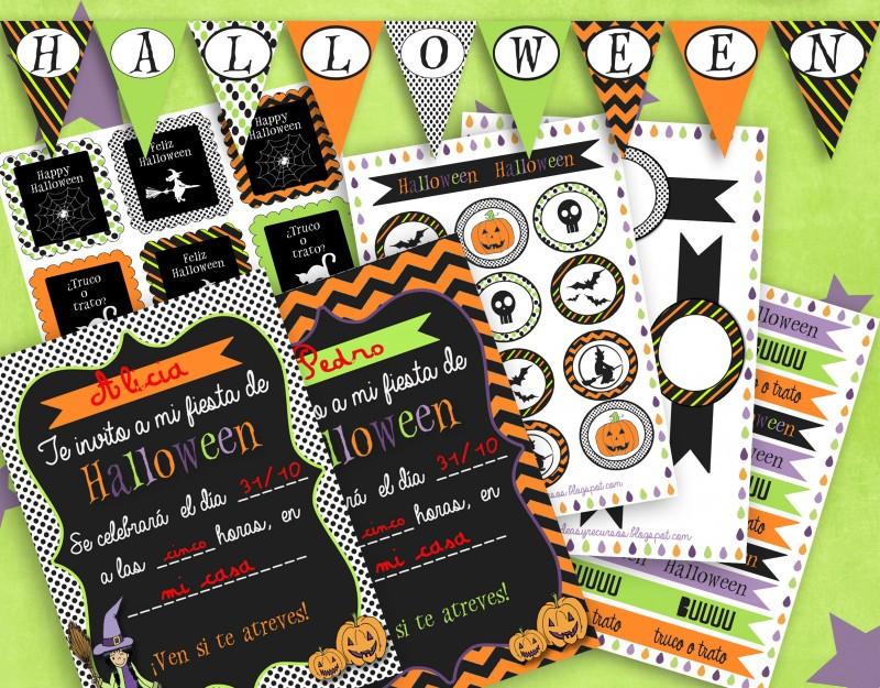 Pack para decorar en Halloween del blog lluvia de ideas