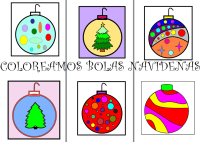 COLOREAMOS BOLAS NAVIDEÑAS