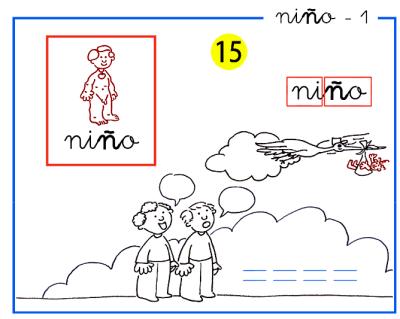 Completo método de lectoescritura paso a paso letra n y ñ de niño