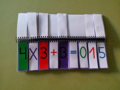 Material Manipulativo El libro movil de las operaciones combinadas Editable 2