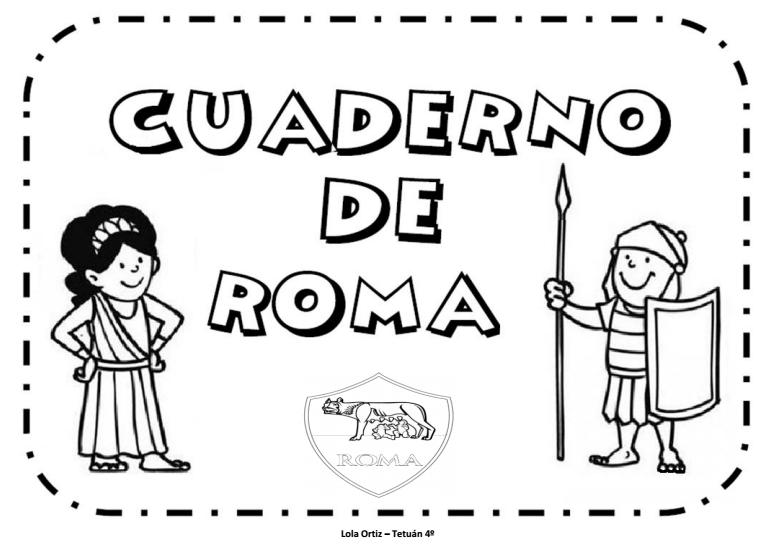 Trabajo por proyectos Cuaderno para trabajar Roma
