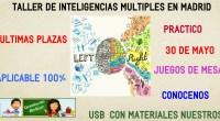 El sábado que viene estaremos en Madrid en unas jornadas sobre inteligencias múltiples. En ellas podemos conocernos y comentar como hemos desarrollado las inteligencias múltiples en nuestros centros, además te […]