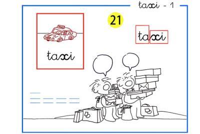 Letras t y x  de  Taxi