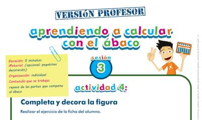 Aprendiendo a calcular con el ábaco, partes del ábaco profesor
