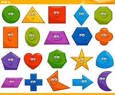 Formas  GEOMÉTRICAS DIVERTIDAS ideales para tus fichas y trabajos en infantil y primaria