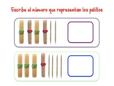 ABN Escribe el número que representan los palillos unidades de millar2