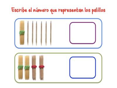 ABN Escribe el número que representan los palillos unidades de millar4