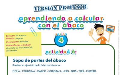 Aprendiendo a calcular con el ábaco, representamos los números profesor