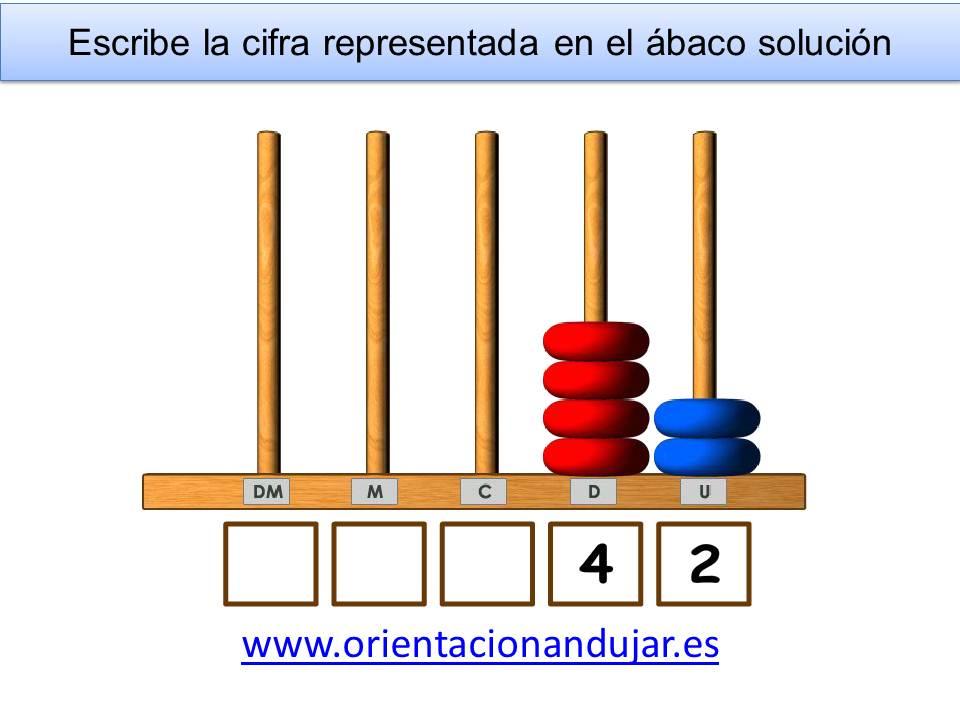 Colección de actividades ábaco vertical abierto colores montessori primaria hasta las decenas ...