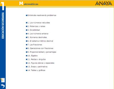 actividades interactivas ideales PDI matematicas 1 eso