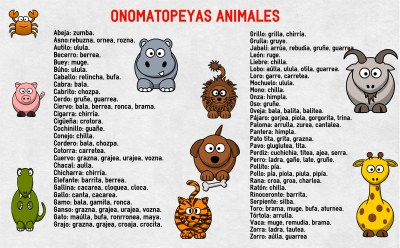 onomatopeyas animales su nombre alta calidad