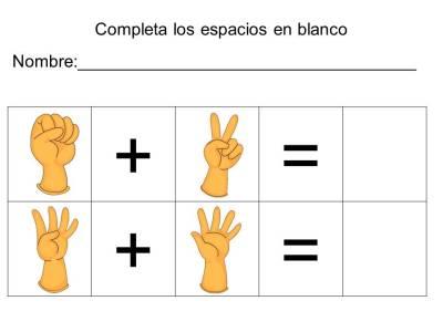 vamos a sumar con los dedos (10)
