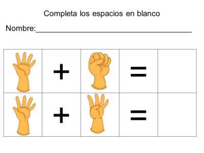 vamos a sumar con los dedos (9)