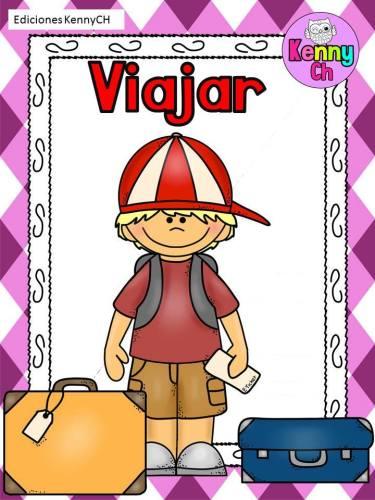 laminas trabajar verbos 8