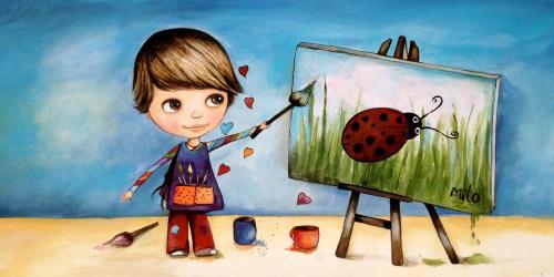 niño-pintando