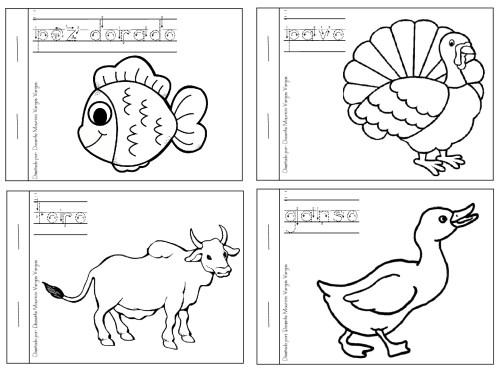 Dibujos Divertidos Para Colorear: Libritos Divertidos De Animales Domesticos Y Salvajes Para