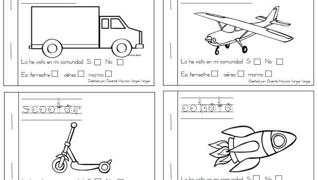 Mi libro de colorear de medios de transporte (5) - Orientación ...