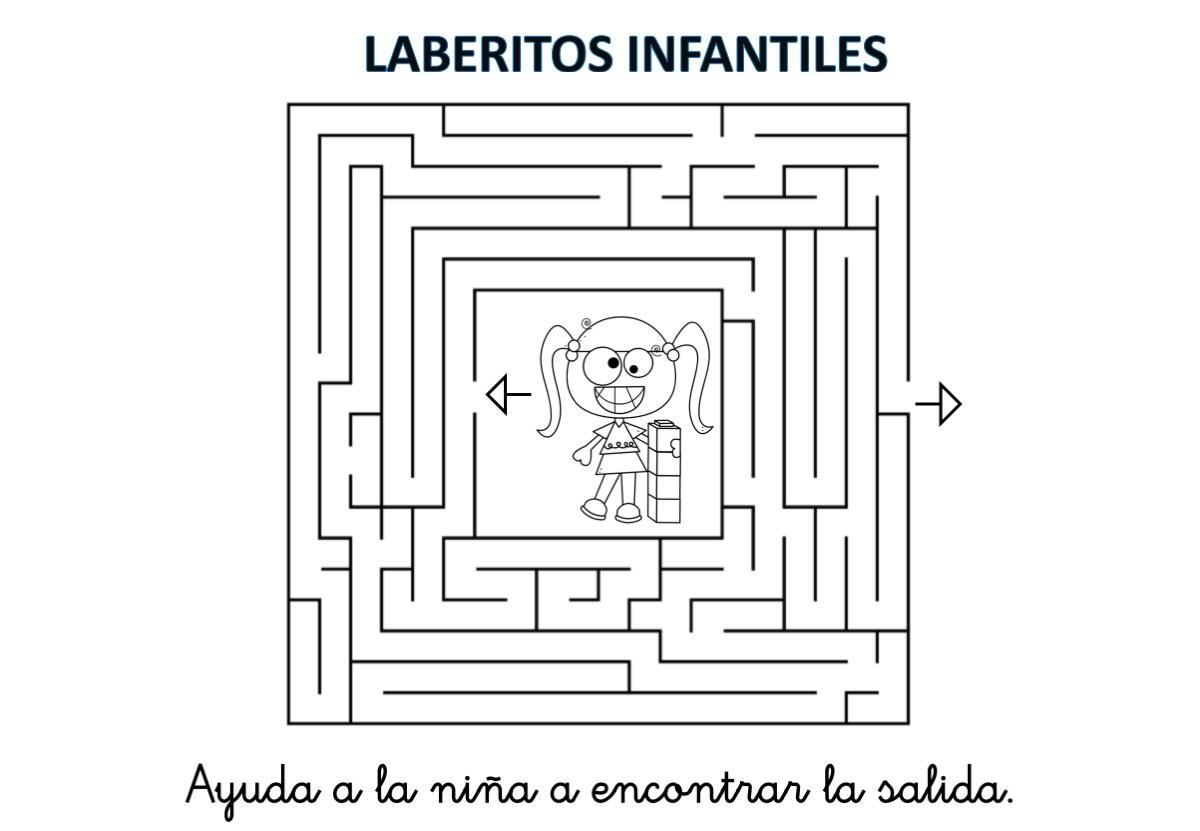 Laberintos Infantiles En Byn Listos Para Imprimir Orientacion Andujar