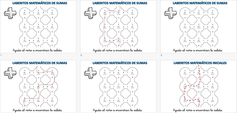 laberintos-de-sumas-nivel-inicial-hasta-el-10-con-soluciones