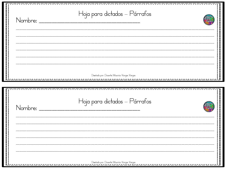 FANTÁSTICA COLECCIÓN DE 40 modelos fichas de HOJAS PARA escritura ...