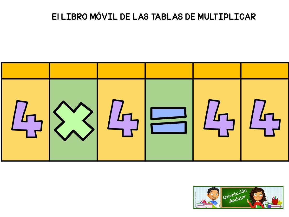 nuevo diseo libro movil para trabajar las tablas de multiplicar
