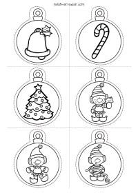 Bolas de navidad colorear infantil  Regalos populares de