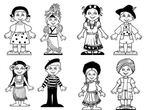 Grupo De Niños De Diferentes Nacionalidades Colorear: Día De La PAZ Galería De Dibujos Y CARTELES Niños Del