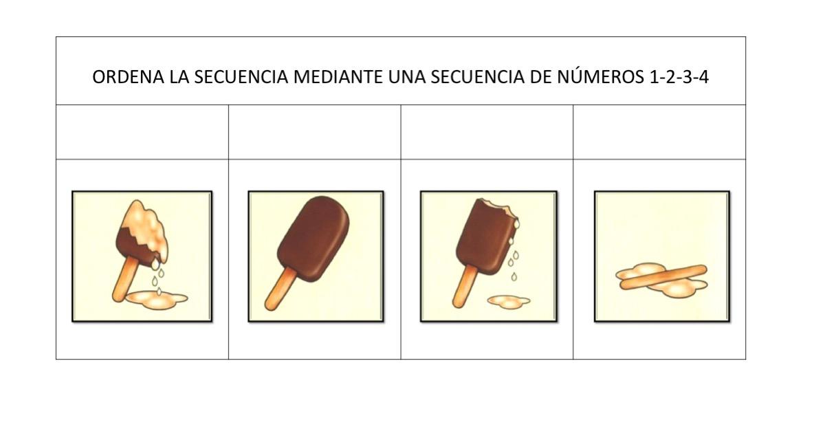 ORDENAMOS SECUENCIAS TEMPORALES fichas 1 106 Orientacin