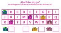DESCARGA EL ARCHIVO EN PDF ¿Qué letra soy yo?Cada imagen ocupa una letra del abecedario, adivina cual.