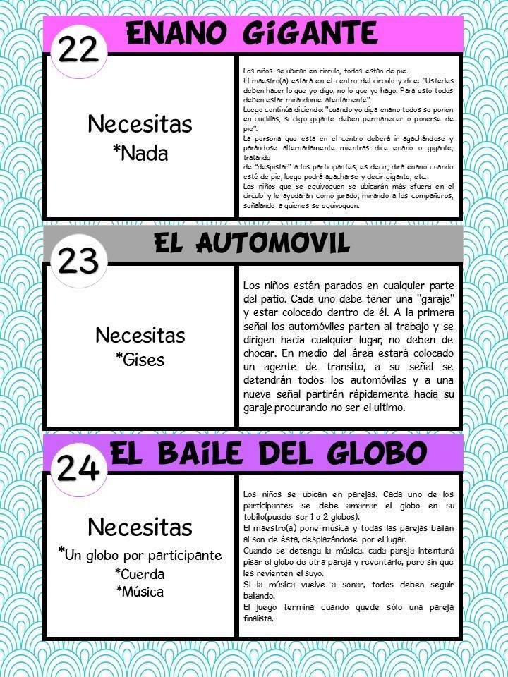 Coleccion De Juegos De Ninos Infantil Y Preescolar En Fichas