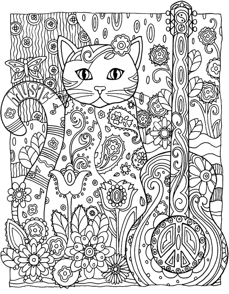 big pattern coloring pages - photo#16