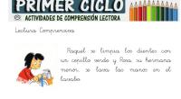 Os dejamos estas fantásticas lecturas comprensivas que ha realizado el equipo de primer ciclo del colegio SAFA de Andújar, ideales para trabajar la comprensión lectora de pequeños textos.  COLECCIÓN […]