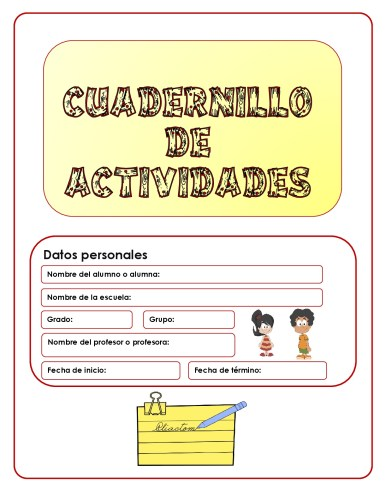 CUADERNILLO DE ACTIVIDADES PARA PRIMER GRADO -Orientacion Andujar