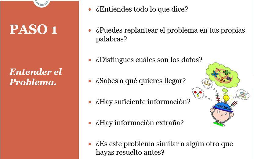 ESTRATEGIAS PARA LA SOLUCIÓN DE PROBLEMAS EN 4 PASOS -Orientacion ...