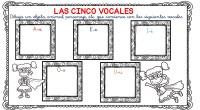 Material de trabajo de lecto-escritura, para trabajar las vocales con niños de 5 años y niños de primer grado.