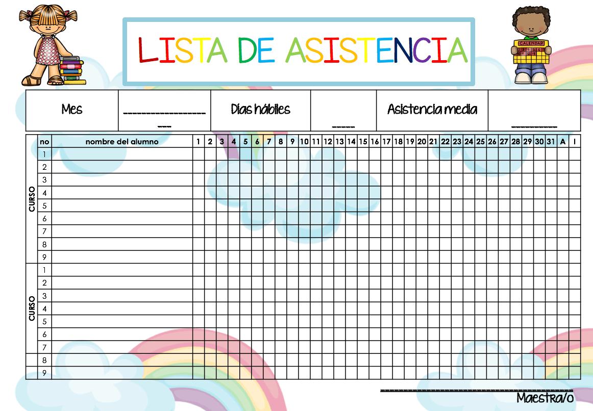 listas de asistencia2 - orientaci u00f3n and u00fajar