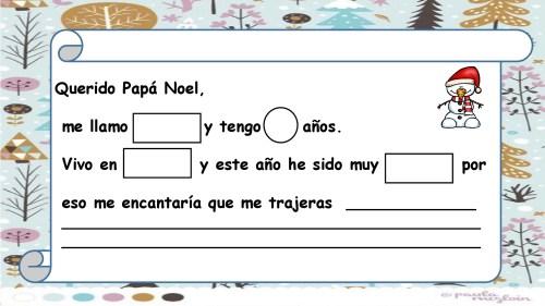 Para la carta a PAPÁ NOEL 2018 Plantillas imprimibles y editables ...