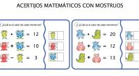 Sencilla actividad de razonamiento lógico matemático, en la que nuestros alumnos deben de averiguar el valor de cada monstruo en cada una de las tarjetas que les presentamos.