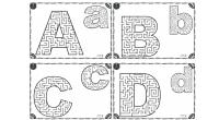 Os dejamos nuevas fichas para trabajar la atención, consistente en laberintos de todas las letras del abecedario en minúscula y mayúscula.