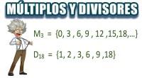 Super esquema sencillos sobre los múltiplos y divisores.