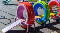 Hoy os traemos una forma sencilla y barata para decorar el patio de vuestro colegio, se trata de reciclar neumáticos, con ellos podemos fabricar jardineras, balancines, areneros, columpios, etc. El […]