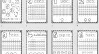 Super cuaderno para trabajar la grafomotricidad de los números del cero al diez, Ademas cuando terminen las ficha de trazos los peques pueden colorear los dibujos adjuntos.