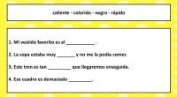 En la siguiente actividad vamos a trabajar las descripciones, para ello nuestros alumnos tienen que rellenar los huecos que hay utilizando los adjetivos que hay en el recuadro. En este […]