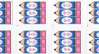 Os dejamos esta colección de tarjetas de sumas para trabajar con los más pequeños estas sencillas operaciones.