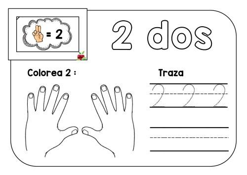 TRAZA Y COLOREA TRABAJAMOS LOS NÚMEROS DEL 1 AL 10 -Orientacion Andujar