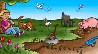 Sencilla actividad para trabajar el infantil los animales según su alimentación. Descubrir de qué se alimenta cada animal y unirlo, utilizando el hilo, con el alimento que corresponda.