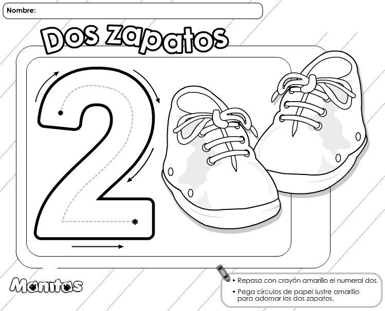Dibujos De Los Numeros Del 1 Al 10 Para Colorear: Traza Y Colorea Trabajamos Los Números Del 1 Al 10 Con