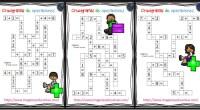 Crucigramas de operaciones sencillas