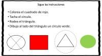 Completa actividad para trabajar la atención y la comprensión lectora a través de figura geométricas y colores.